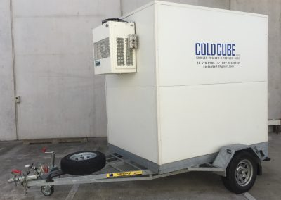 medium cold cube outside trailer
